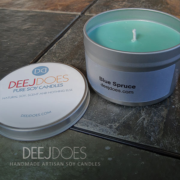 Bruce Spruce Soy Candle by DEEJ DOES