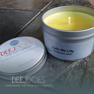 Calla Me Lily Soy Candle by DEEJ DOES