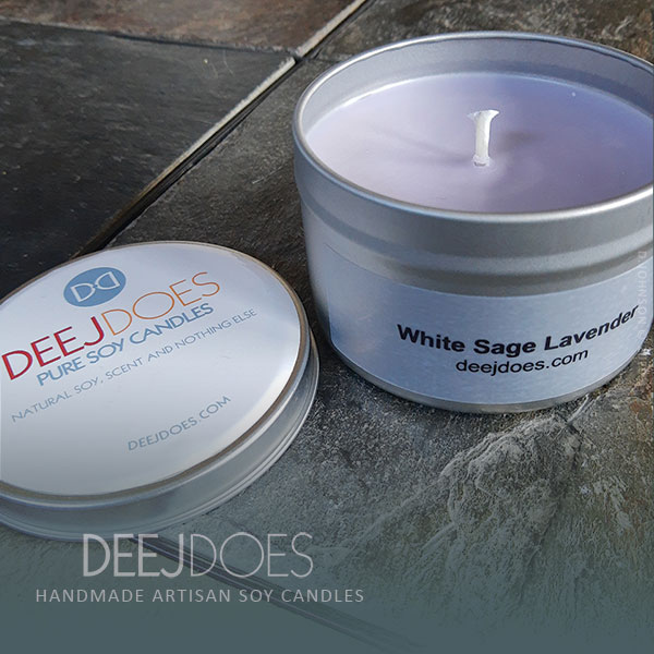 White Sage Lavender Soy Candle by DEEJ DOES