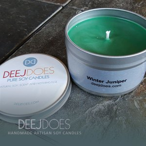 Winter Juniper Soy Candle by DEEJ DOES