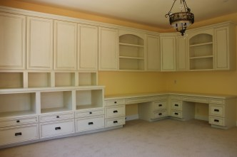 painted and glazed office