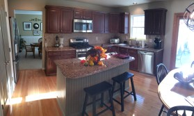 Toned Perimeter Cabinets, Painted Island