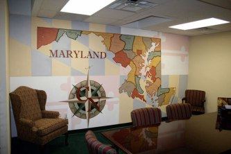 Office Mural, Northrop Clarksville Office