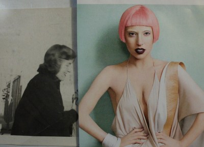 digital collage - mother and gaga