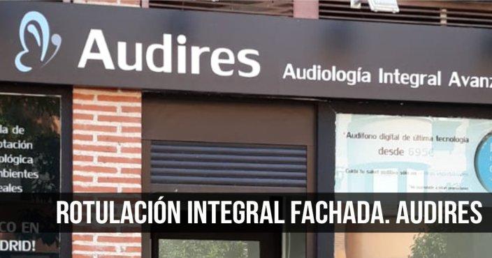 ROTULACIÓN INTEGRAL FACHADA-AUDIRES