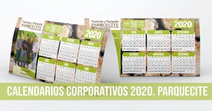 Calendario corporativo personalizado Parquecite
