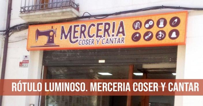 ROTULO LUMINOSO PARA MERCERIA