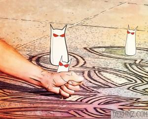 Sidewalk Sand Art
