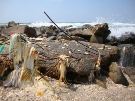 Haifa's polluted beach