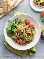Pesto Tomato Chickpea Salad