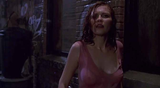 Kirsten Dunst's nipples in Spider-Man