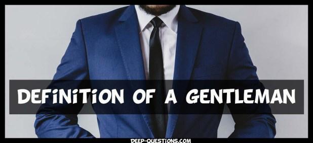 Definition of a gentleman