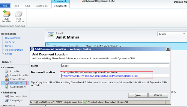 SharePoint Integration with CRM 2011 (3/6)