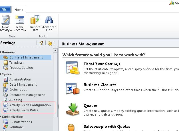 Activity Feed in CRM 2011 (2/6)