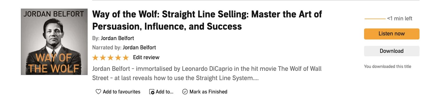 Straight Line Selling