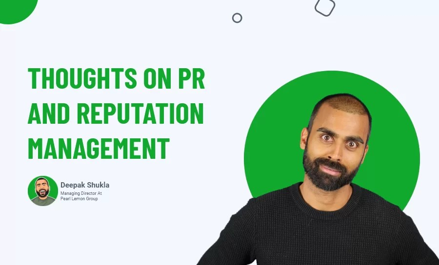 Thoughts on PR and Reputation Management