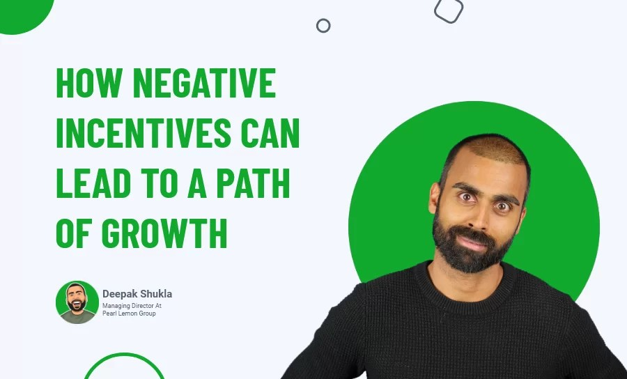 How Negative Incentives Can Lead to a Path of Growth?