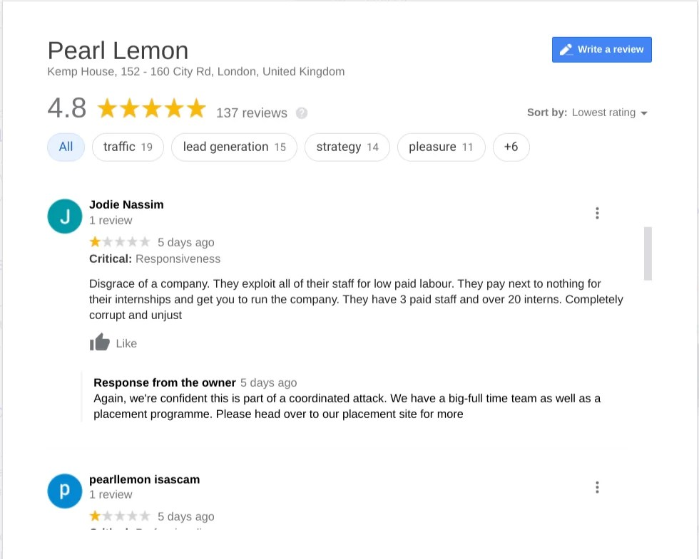 Pearllemon review