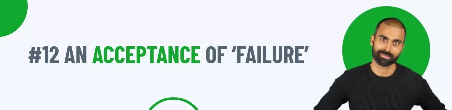 Rule 12 of Coping With Failure