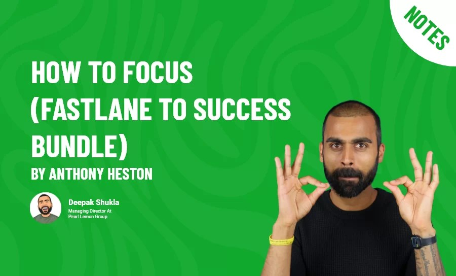 How to Focus (Fastlane to Success Bundle) by Anthony Heston