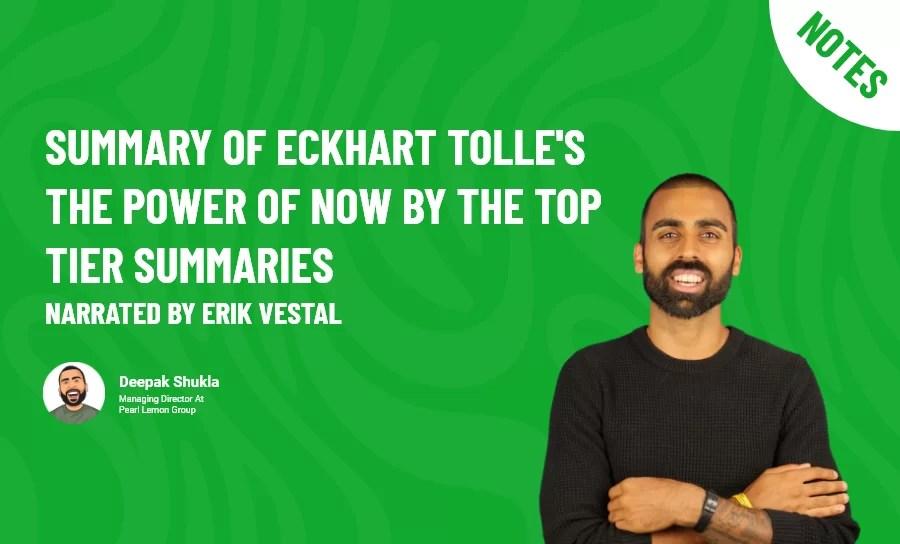 Summary of Eckhart Tolle's The Power of Now by The Top Tier Summaries narrated by Erik Vestal