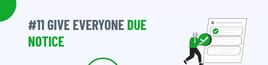 Due Notice