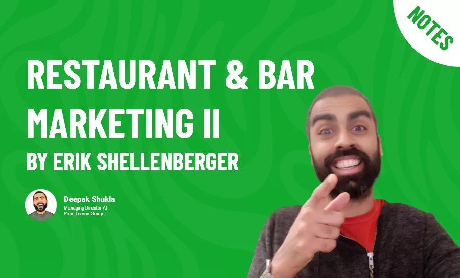 Restaurant & Bar Marketing II by Erik Shellenberger
