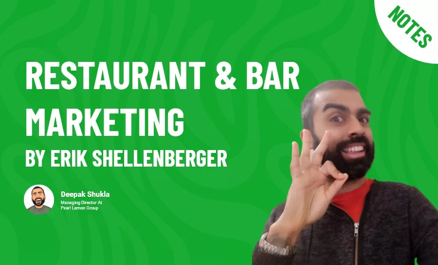Restaurant & Bar Marketing by Erik Shellenberger