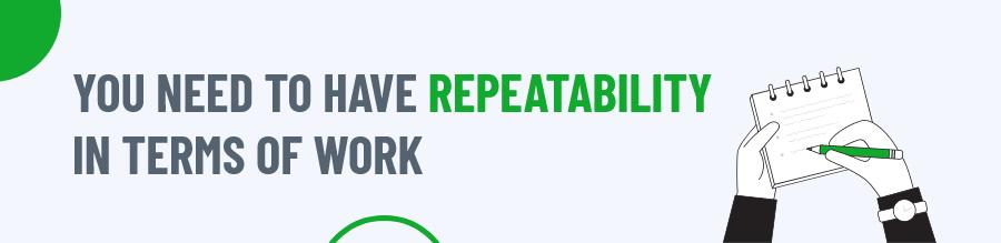 Repeatability