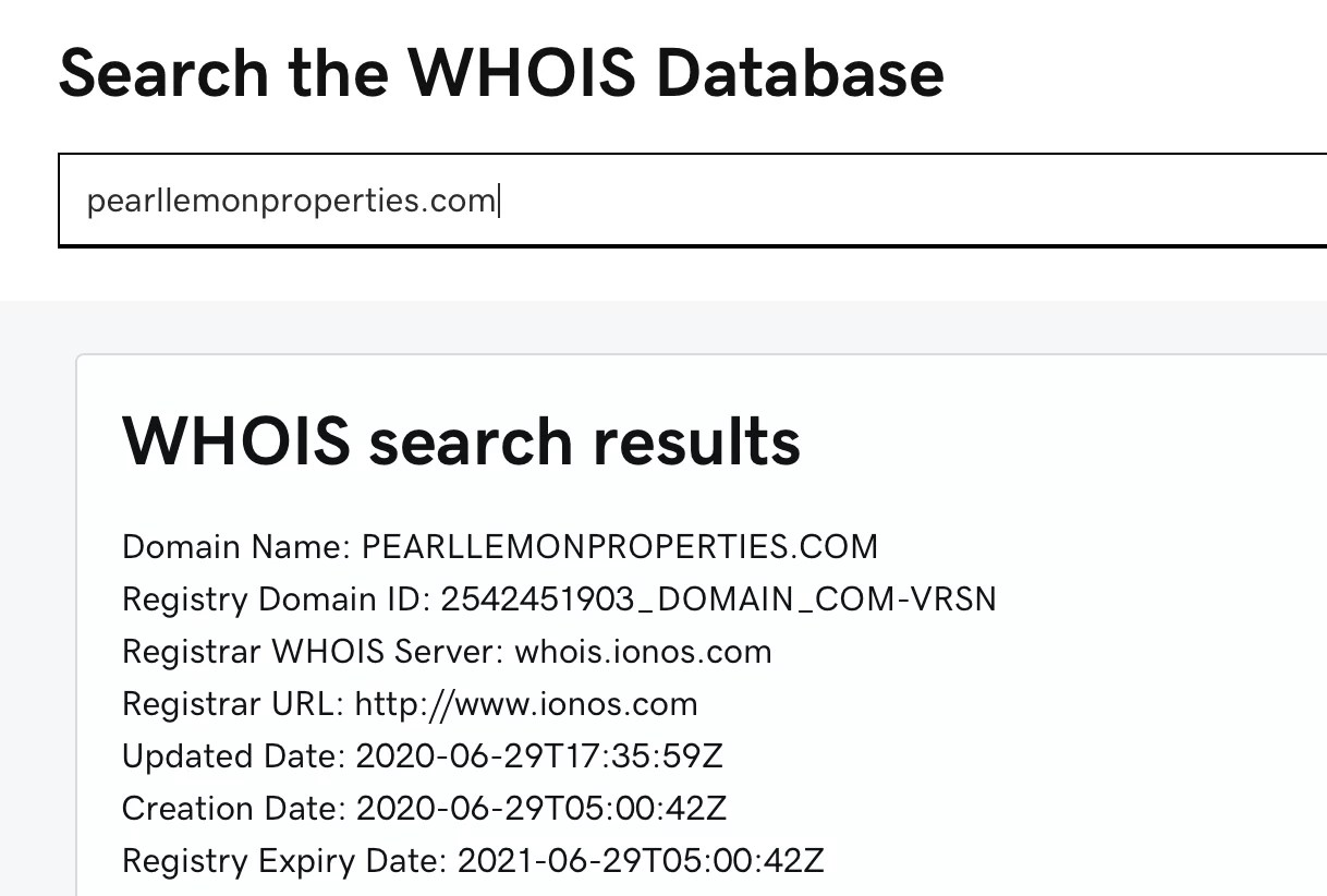 Search WHOIS Database