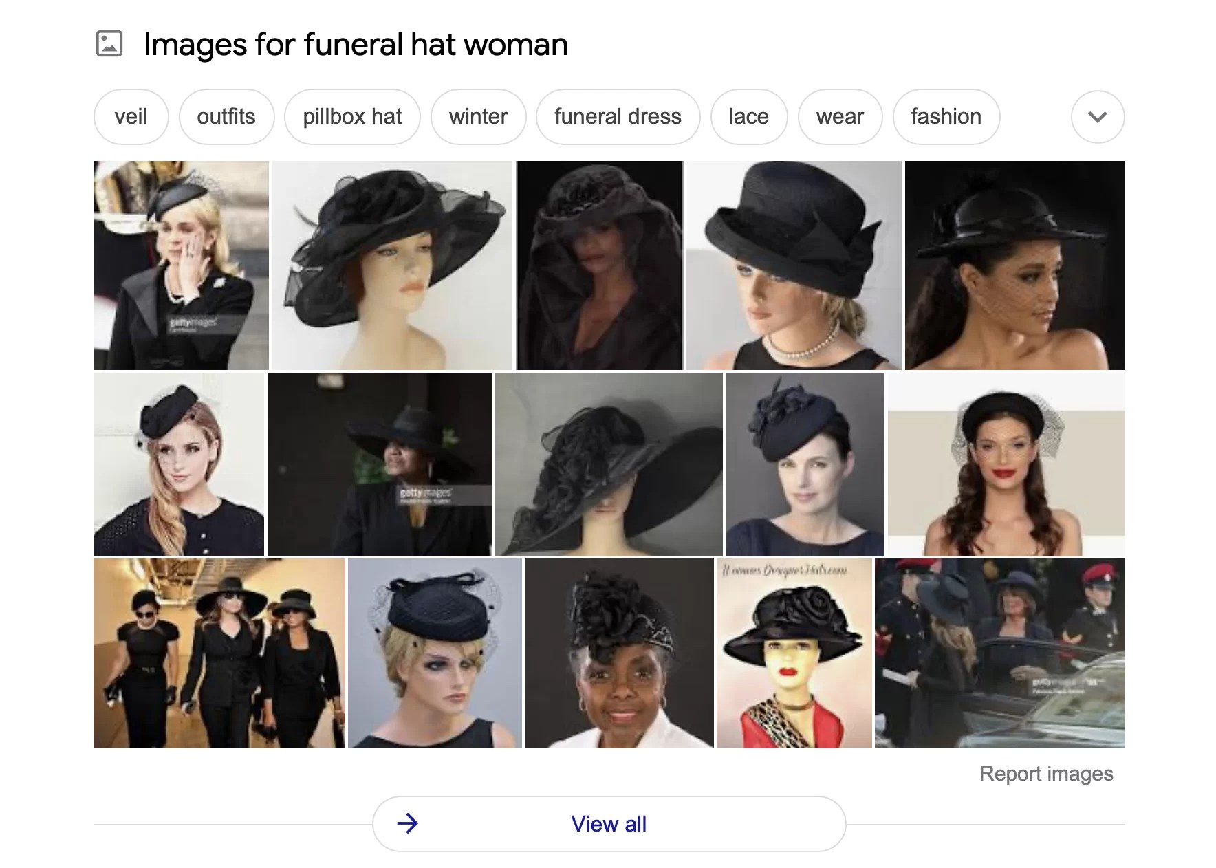 Funeral Hat Woman