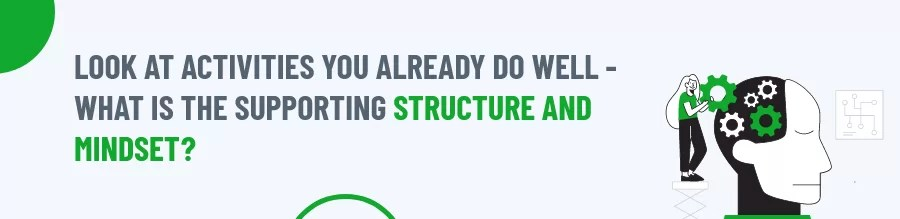 Supporting structure and mindset