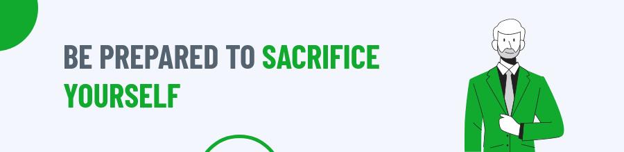 Sacrifice yourself