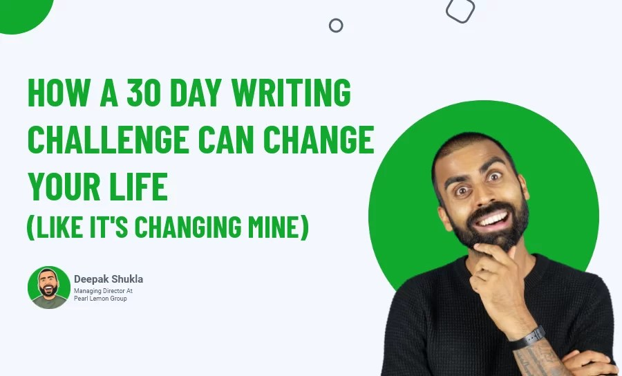 A 30 Day Writing Challenge