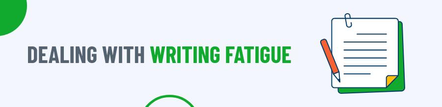 Writing fatigue