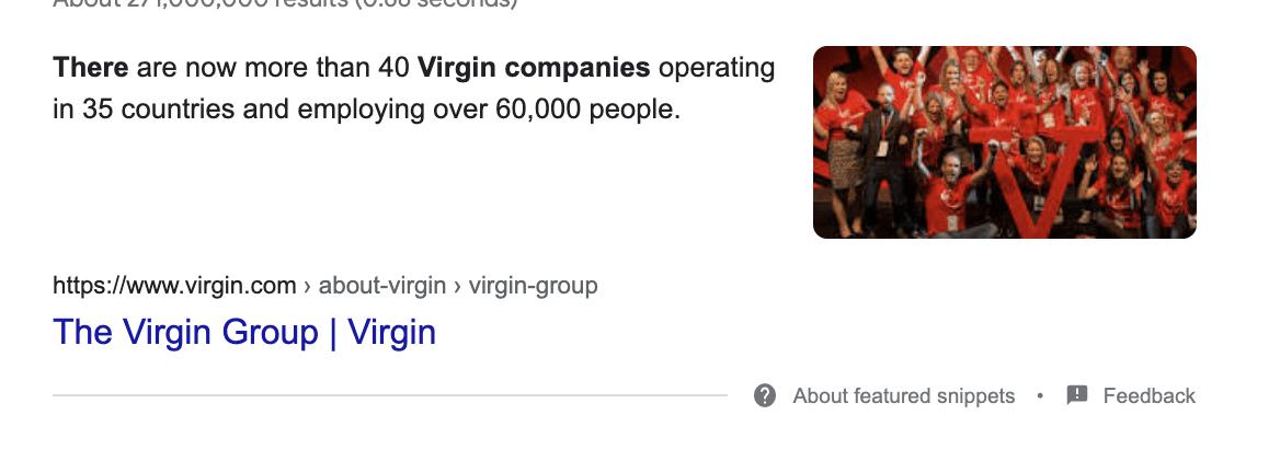 The Virgin group