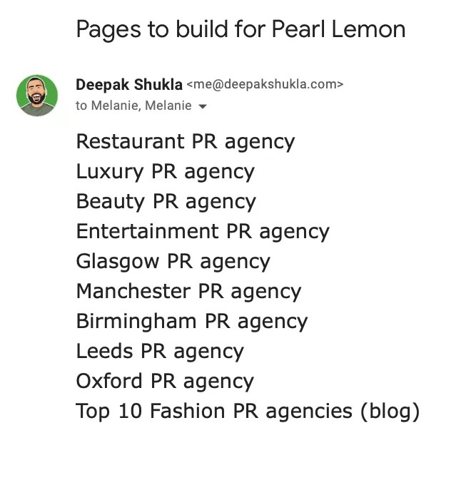 Pages to Build