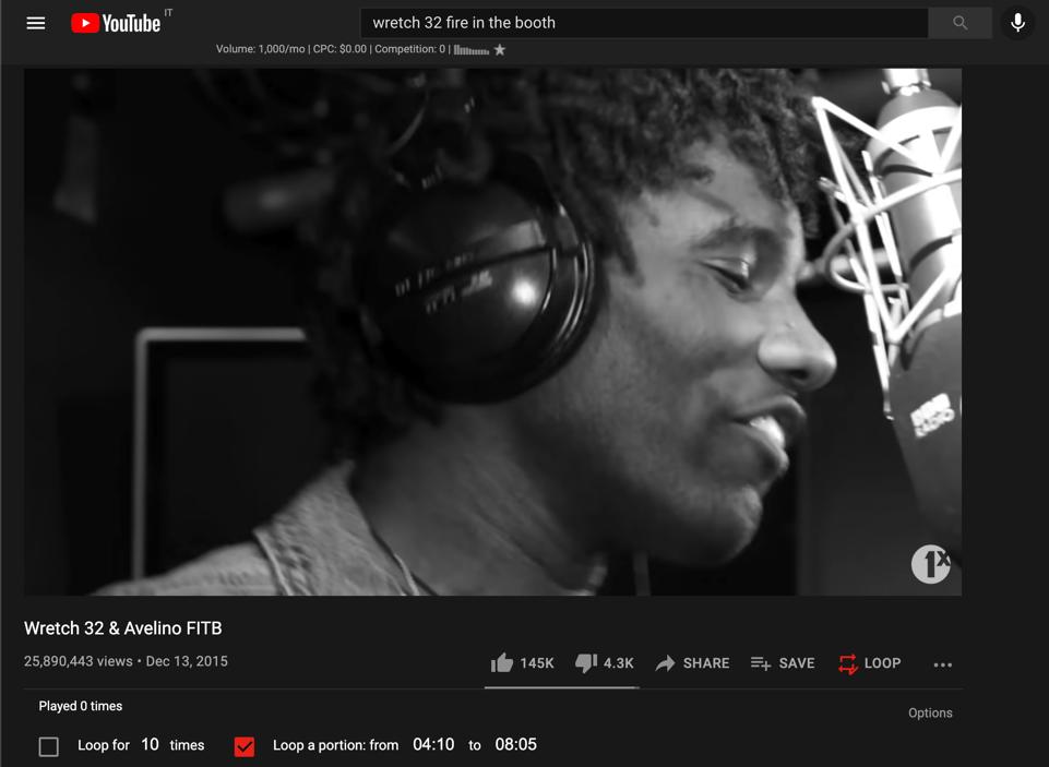 YouTube Screen View