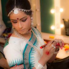 Stithi Parida at the Deepam annual show mid makeup Photo credits Guru Acharya