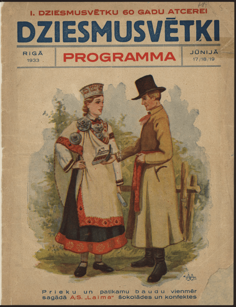 1933 Programme_Publisher Riga Spiestuve Latvija_from National Library Archive