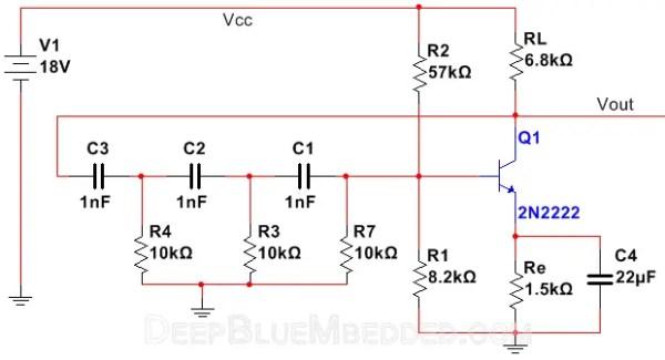 RC Phase Shift Oscillator Tutorial | Electronics Tutorials | Oscillators
