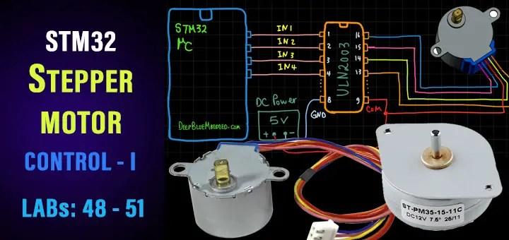 STM32 Stepper Motor Control Tutorial - Unipolar 28BYJ-48 Speed Direction Control