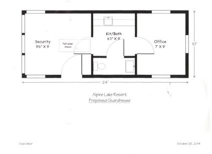 Alpine Lake Proposed Guard House 11 4 14-4