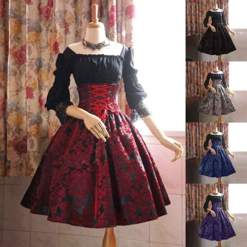 High Waist Victorian Dresses