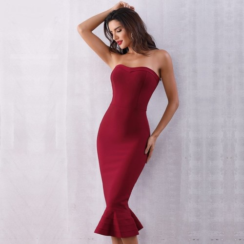 Sleeveless Elegant Bandage Dress