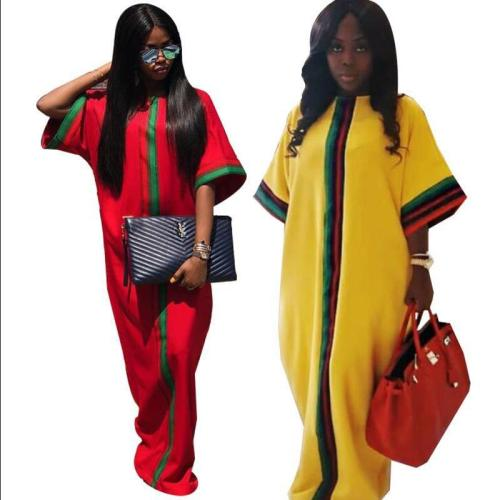 African Dashiki Slim Sleeved Dress