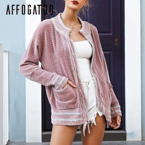 Elegant Tassel Chenille Sweater