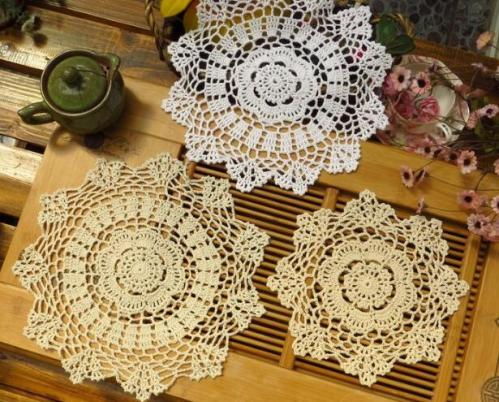 Lace Cotton Crochet Hot Pads