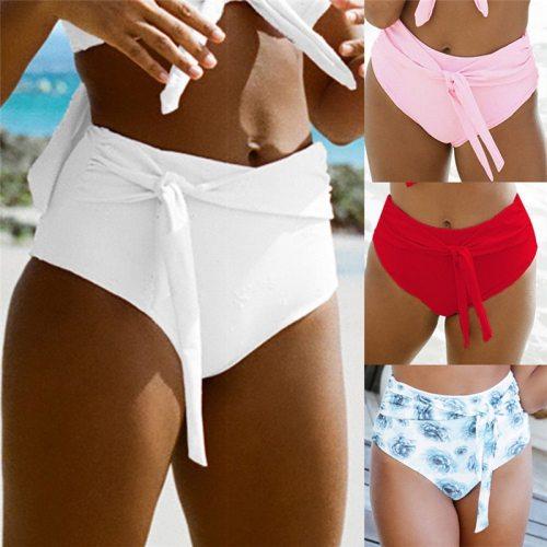 Sexy Women High Waist Bikini Bottoms Swimwear