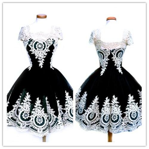 Top Sale Black Gothic Victorian Dress